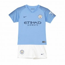 Manchester City Home Kit de estadio 2018-19 - Niños