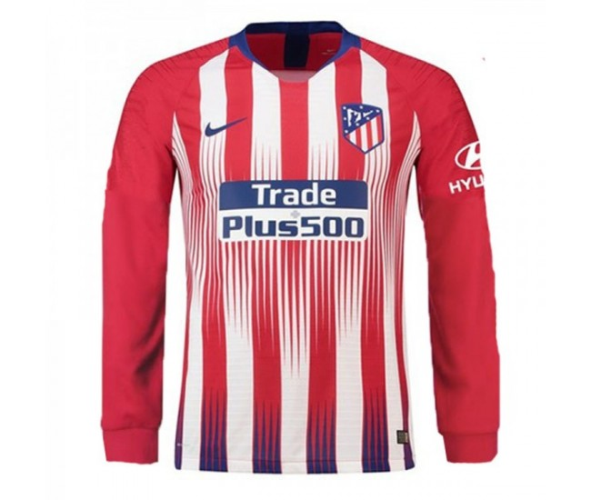 Camiseta de Mangas Largas Atlético de Madrid Home 2018-19