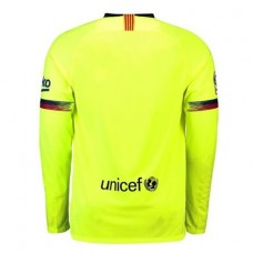 Barcelona 2018-2019 Long Sleeve Away Camiseta