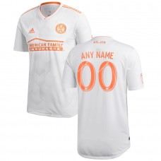 Men's Atlanta United FC adidas Blanco 2018 Camiseta personalizada King Peach Authentic