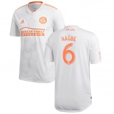 Men's Atlanta United FC Darlington Nagbe adidas White 2018 King Peach Authentic Player Jersey