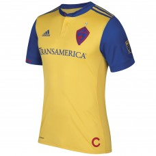 Men's Colorado Rapids adidas Equipo Autentico Secundario Amarillo 2017/18 Camiseta
