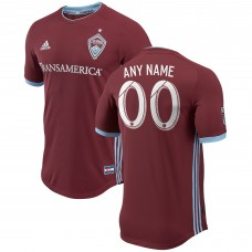 Colorado Rapids adidas Burgundy 2018 Primary Authentic Custom Camiseta Hombre