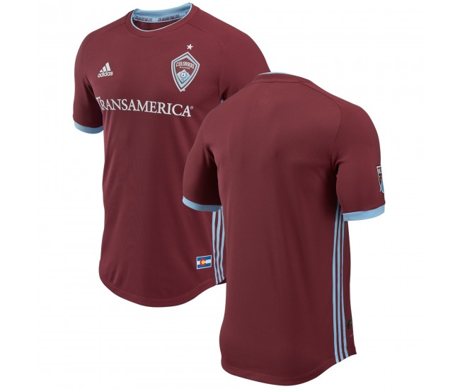 Colorado Rapids de los hombres adidas Burgundy 2018 Primary Authentic Camiseta