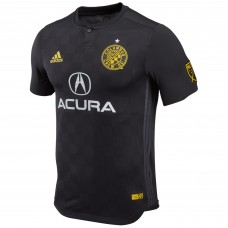 Men's Columbus Crew SC Wil Trapp adidas Black 2018 Secondary Authentic Player Jersey