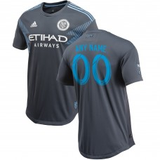 New York City FC adidas Grey 2018 Secondary Authentic Custom Camiseta hombre