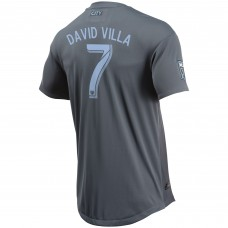 David Villa New York City FC adidas Gray 2018 Secondary Authentic Jugador Camiseta