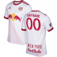 New York Red Bulls adidas Blanco 2017/18 Primary Authentic Custom Camiseta Hombre