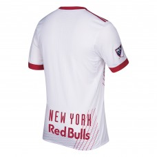Barato Camiseta de New York Red Bulls adidas  2017/18 Primary Authentic  Hombre -Blanco