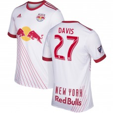 Barato Camiseta de New York Red Bulls Sean Davis adidas 2017/18 Primary Authentic Hombre- Blanco
