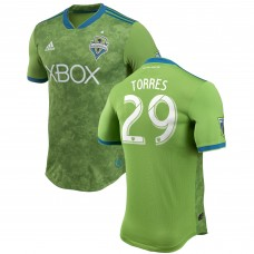 Seattle Sounders FC Roman Torres adidas Green 2018 Primary Authentic Player Camiseta Hombre