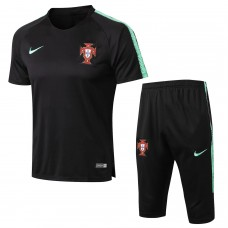 Portugal Equipo Short Black Tech Training Soccer Chándal 2018/19
